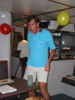 Fred - doing one of his dances in the salon - KLM Photo