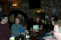 The Group in the bar at Culcreuch